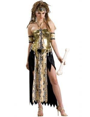 Voo Doo Priestess Women's Sexy Stone Age Costume
