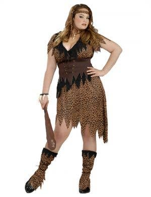 Cave Beauty Plus Size Womenu0027s Cavegirl Costume  sc 1 st  Heaven Costumes : plus size madonna costume  - Germanpascual.Com