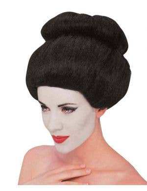 Japanese Geisha Black Costume Wig