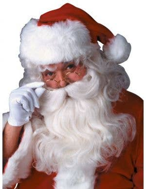 Deluxe Santa Claus Costume Wig and Beard Set