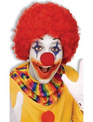 Clown Red Curly Afro Costume Accessory Wig