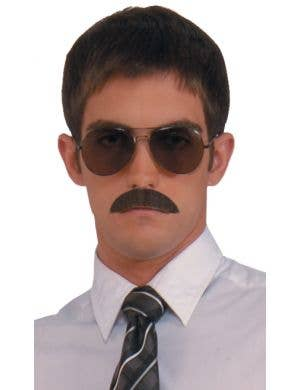 Black Human Hair Realistic Moustache Accessory