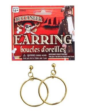 Pirate Gold Hooped Unisex Earrings