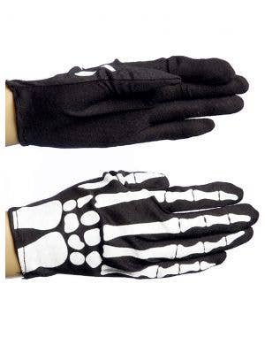 Skeleton Costume Gloves Halloween Costume Accessory