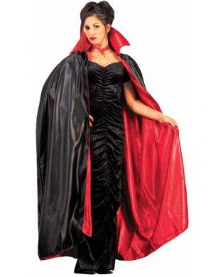 Reversible Satin Cape Costume in Red and Black