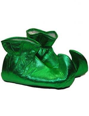 Metallic Green Adults Christmas Elf Shoes