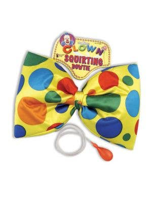 Novelty Water Squirting Yellow Polkadot Clown Bowtie