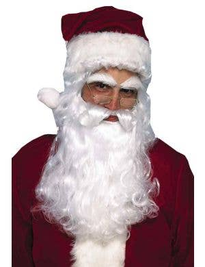 White Santa Beard and Wig Set