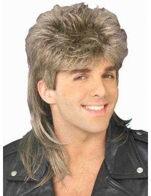 80's Heart Throb Men's Mullet Costume Wig