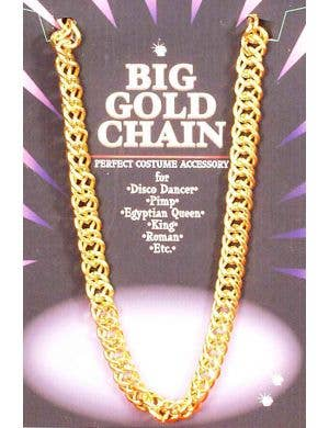 Pimp Gold Bling Chain Costume Accessory Necklace