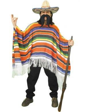 Mexican Poncho Men's Costume