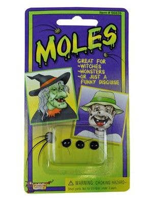 Black Hairy Moles Witch Costume Accessory