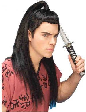 Asian Warrior Men's Costume Wig