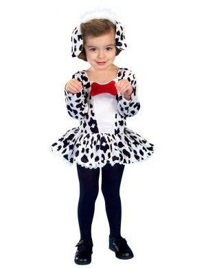Girls' Dalmation Cute Spotted Dog Fancy Dress Costume Front