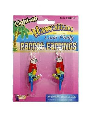 Light Up Parrot Earrings Costume Accessory Image 1