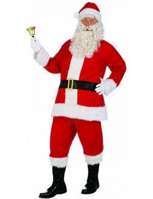 Deluxe Plush Santa Suit Christmas Costume