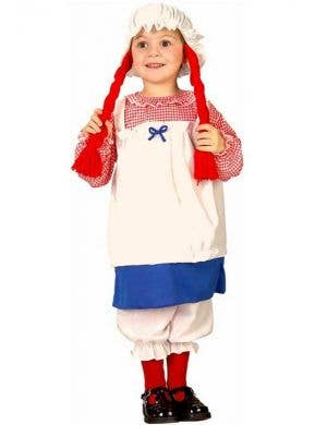 Girl's Rag Doll Fancy Dress Costume Front View