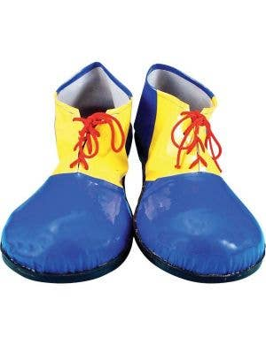 Clown Blue and Yellow Kids Costume Shoes