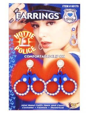 Hottie Police Handcuffs Earrings