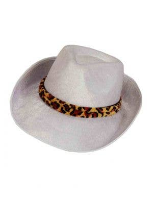 Velour Fedora White Pimp Hat Costume Accessory