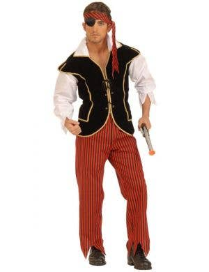 Men's First Mate Pirate Fancy Dress Costume Front