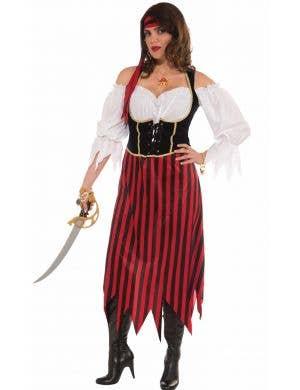 Plus Size Women's Pirate Maiden Fancy Dress Costume