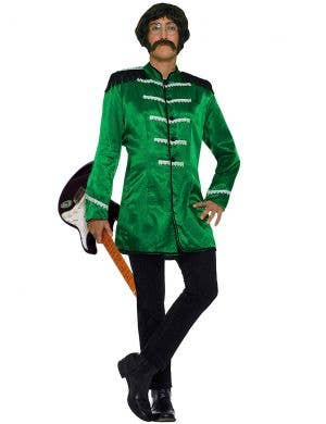 Men's Green British Explosion Beatles Costume Front