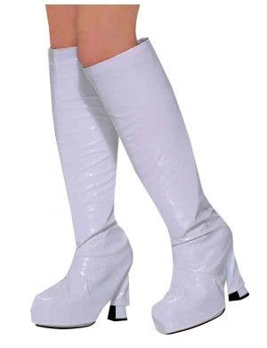 60's Go Go Boot Top Covers - White