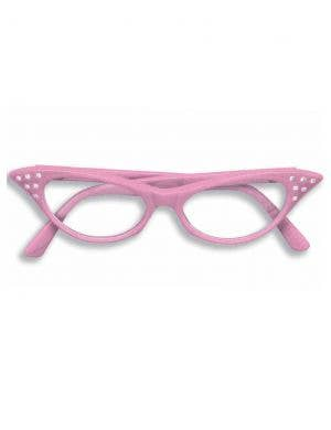 50's Light Pink Glasses Costume Accessory