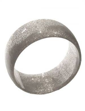 60's Glitter Mod Bangle - Silver