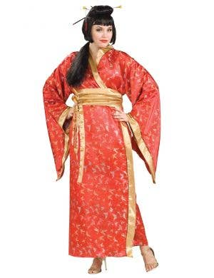 Red Japanese Kimono Women's Plus Size Geisha Costume Main Image