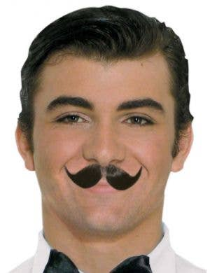 BROWN Human Hair Englishman Costume Moustache
