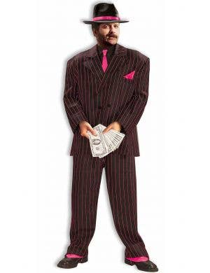 1920's Pink Pinstripe Men's Gangster Costume