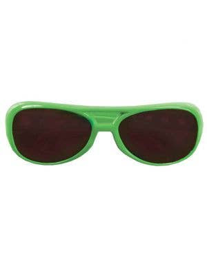Aviator Style Neon Green Sunglasses
