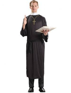Priest Plus Size Budget Men's Fancy Dress Costume