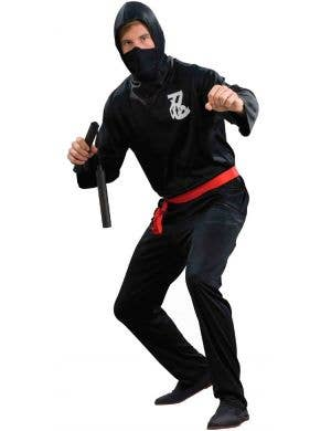 Ninja Plus Size Budget Men's Fancy Dress Costume