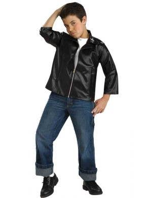 Boyu0027s Rockabilly Greaser T-Bird Movie Costume Front ...  sc 1 st  Heaven Costumes : boy rockstar costume ideas  - Germanpascual.Com