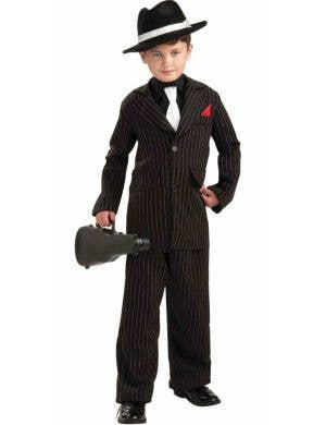 Gangster Boy's Mob Boss Costume Front View