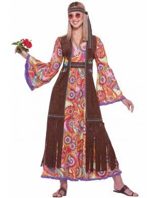 60's Women's Hippie Costume Dress Main Image