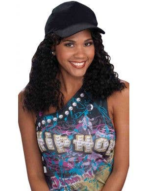 Hip Hop Girlfriend Hat and Wig Women's Costume Accessory