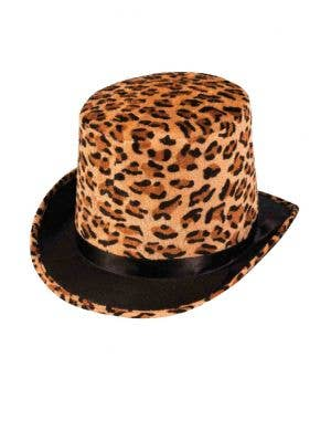 Leopard Print Pimp Top Hat Costume Accessory