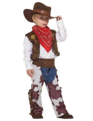Boy's Wild West Cowboy Costume Dress Up Front View