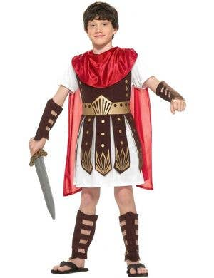 Boy's Roman Gladiator Book Week Costume Front View
