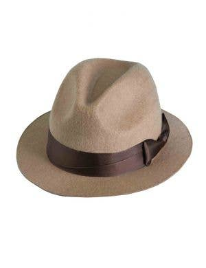 Tan Brown Fedora Hat Costume Accessory