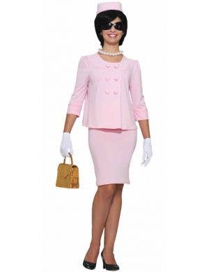 Women's Pink Jackie O Costume Suit Main Image