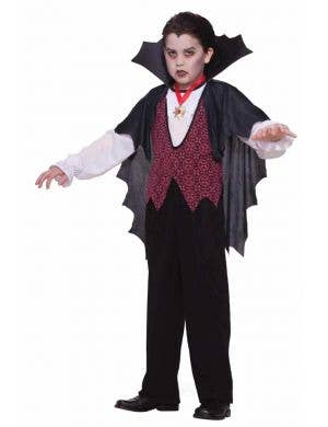 Vampire Dracula Boy's Halloween Costume Front View