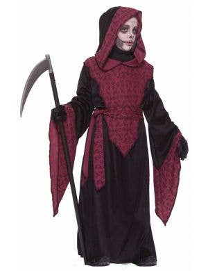 Boy's Halloween Grim Reaper Costume Front View