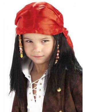 Buccaneer Pirate Boys Costume Wig