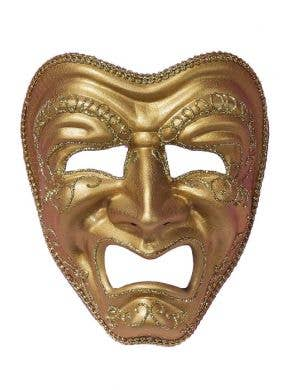 Full Face Gold Tragedy Masquerade Mask