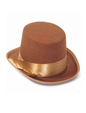 Bell Topper Brown Steampunk Top Hat
